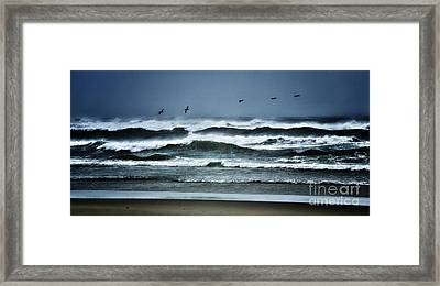Riders On The Storm 1 - Outer Banks Framed Print by Dan Carmichael