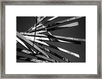 Riders On The Storm.. Framed Print