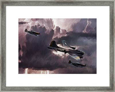 Riders On The Storm Framed Print by Peter Chilelli