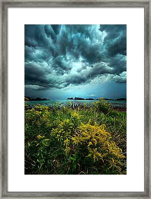 Riders On The Storm Framed Print by Phil Koch