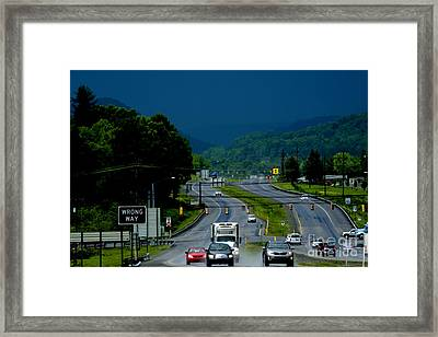 Riders On The Storm  Framed Print by Thomas R Fletcher