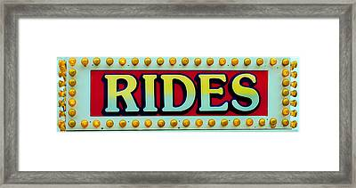 Rides Framed Print by Skip Willits