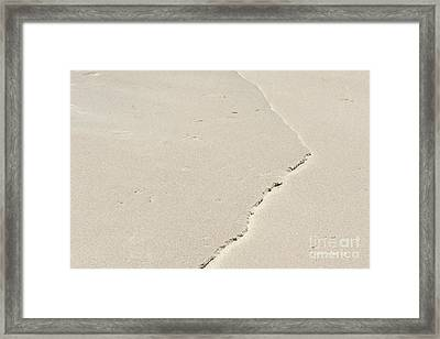 Ridge In The Sand At Big Sur Framed Print