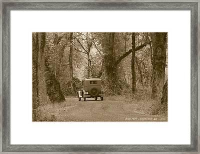 Ridgefield Nostalgia Framed Print by Angie Vogel
