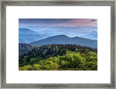 Ridges At Sunset Framed Print