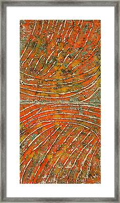 Ridges Encaustic Framed Print