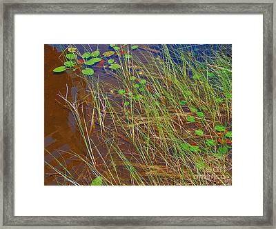 Ridges Illusion Framed Print by Jim Rossol