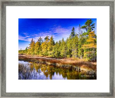 Ridges Repose Framed Print by Jim Rossol