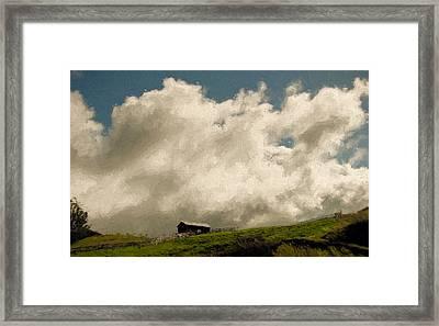 Ridgetop Corral Framed Print by John K Woodruff
