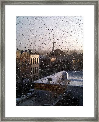 Ridgewood Wet With Rain Framed Print by Mieczyslaw Rudek Mietko