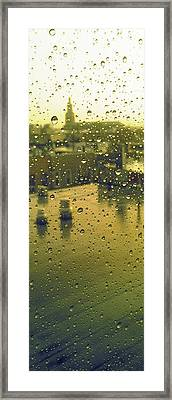 Ridgewood Wet With Rain St Matthias Roman Catholic Church Framed Print by Mieczyslaw Rudek Mietko
