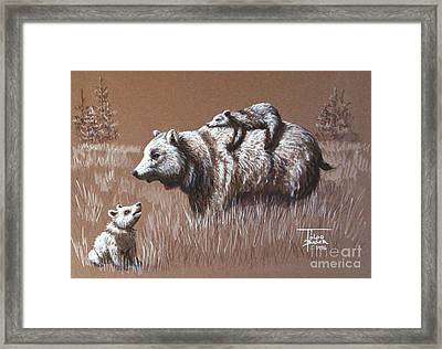 Riding Bear Back Framed Print