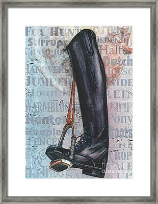 Riding Boot  Framed Print