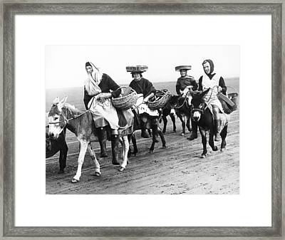 Riding For Cockles In Wales Framed Print