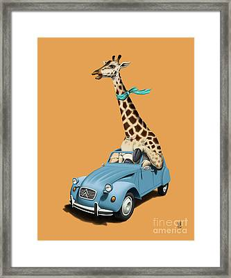 Riding High Colour Framed Print