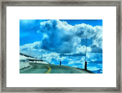 Riding High On Trail Ridge Road Framed Print by Dan Sproul