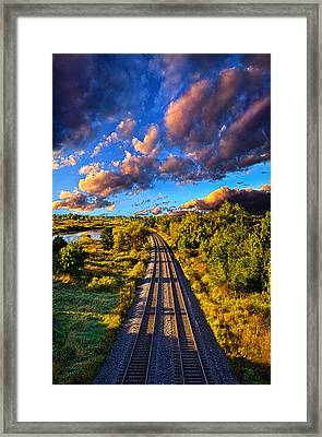 Riding Into Fall Framed Print by Phil Koch