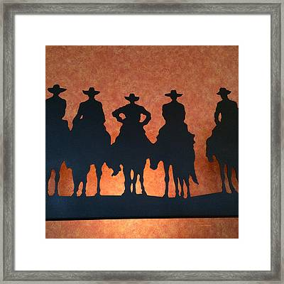 Riding Into The Sunset Framed Print by Patricia Januszkiewicz
