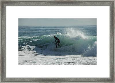 Riding It In Framed Print by Donna Blackhall