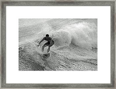 Riding It In Framed Print by Thomas Fouch