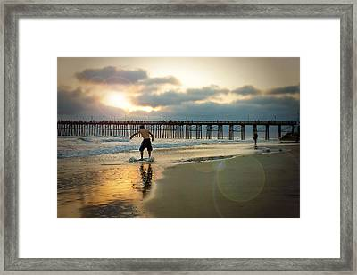 Riding Off Into The Sunset Framed Print by Ann Patterson