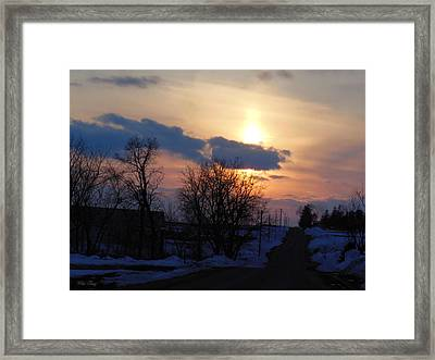 Riding Off Into The Sunset Framed Print