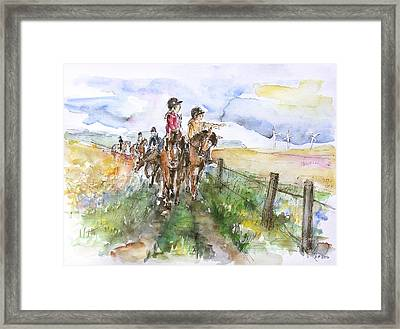 Riding Out Framed Print by Barbara Pommerenke