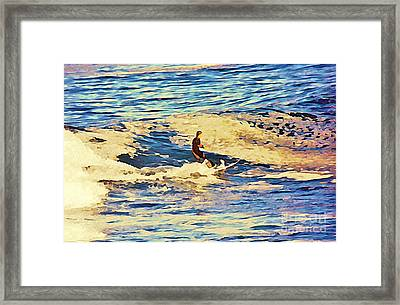Riding Out The Wave Framed Print
