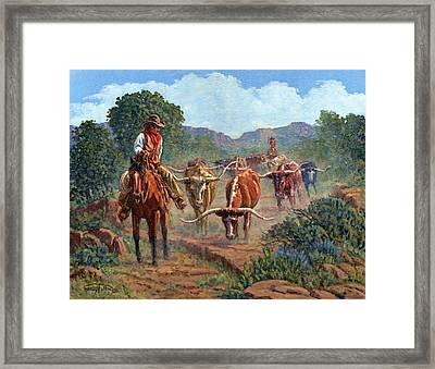 Riding Point Framed Print by Randy Follis
