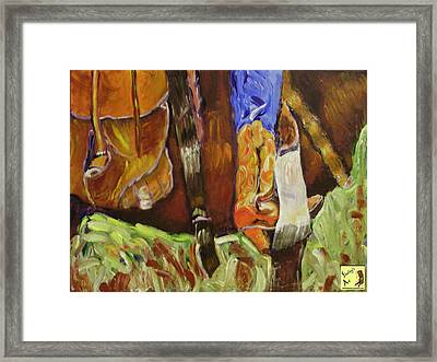 Riding Framed Print by Shelley Bain