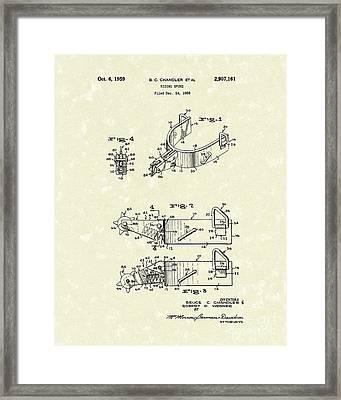 Riding Spurs 1959 Patent Art Framed Print by Prior Art Design