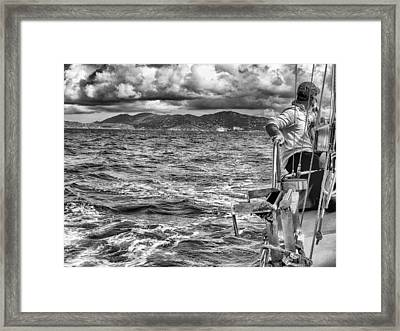 Framed Print featuring the photograph Riding The Crest Of The Wave by Howard Salmon