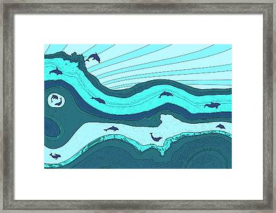 Riding The Current Framed Print by David G Paul