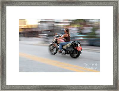 Riding The Daytona Winds Framed Print