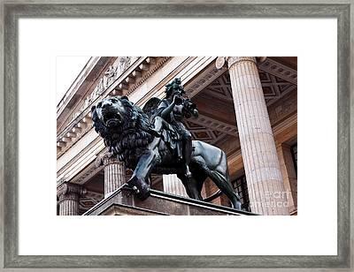Riding The Lion Framed Print