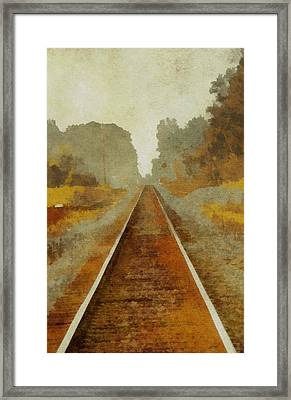 Riding The Rails Framed Print by Dan Sproul