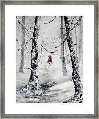Riding The Storm Framed Print by Jean Walker