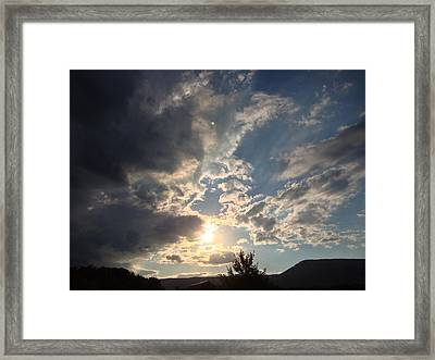 Riding The Storm Out Framed Print by Angela McKinney