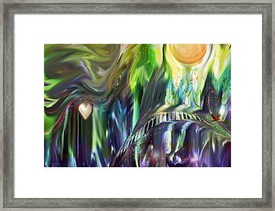 Riding The Wave Framed Print by Linda Sannuti