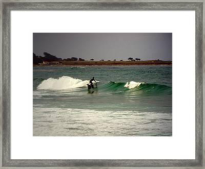 Riding The Waves At Asilomar Framed Print by Joyce Dickens