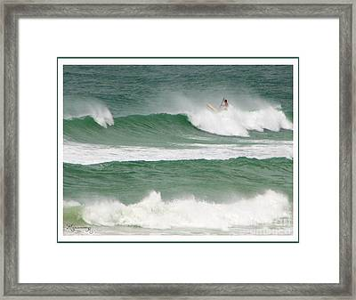Riding The Waves Framed Print