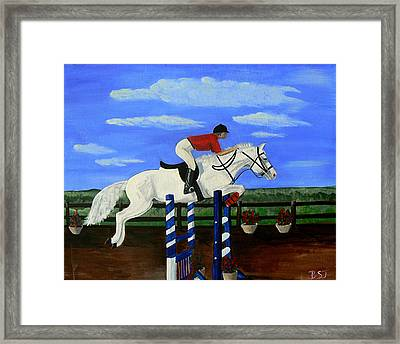 Riding The Wind Framed Print