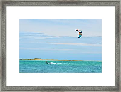 Riding The Wind Framed Print by Bill Cannon