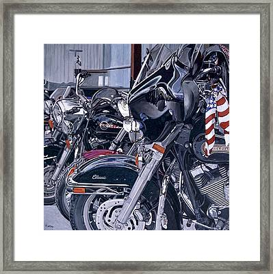 Riding With The Colors Framed Print by Patricio Lazen