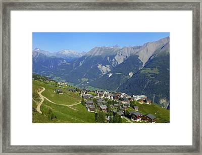 Riederalp Valais Swiss Alps Switzerland Framed Print