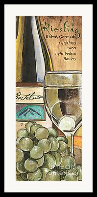 White Grapes Framed Prints