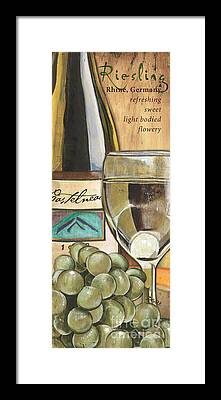 White Wine Framed Prints