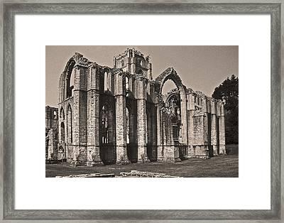 Rievaulx Abbey Framed Print by John Topman