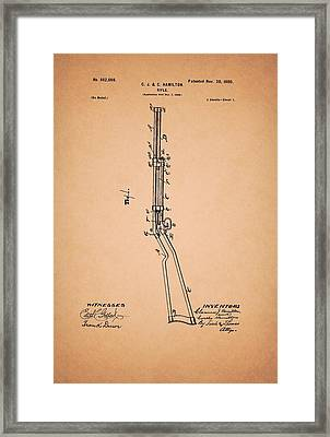 Rifle Patent 1900 Framed Print by Mountain Dreams