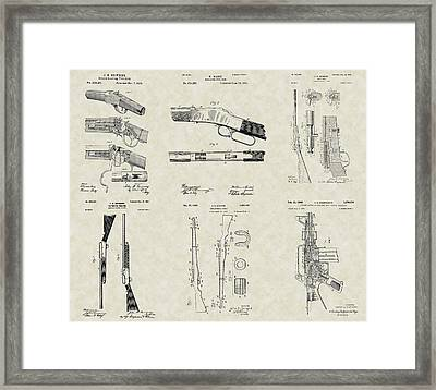 Rifles Shotguns Patent Collection Framed Print